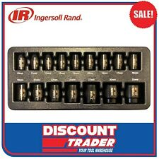 "Ingersoll Rand 16Pc 1/2"" Drive 6 Point Metric Standard Impact Socket Set SK4M16A"