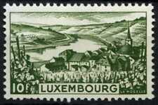 Luxembourg 1948-1955 SG#507, 10f Green River Moselle MNH #D67978