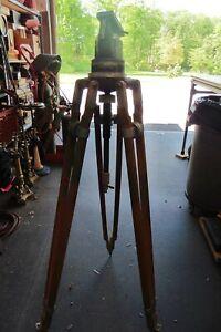 Vintage rare Wooden National Cine Equipment Tripod Model MH71 Miller Fluid Head