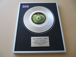 PAUL McCARTNEY & WINGS Helen Wheels PLATINUM PRESENTATION DISC