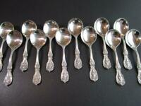 1-ONE-REED-BARTON-FRANCIS-I-STERLING-FLATWARE CREAM SOUP SPOON-OM-PAT-DATE-RARE!
