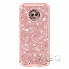 For Motorola Moto phone case glitter silicone+pc hybrid shockproof