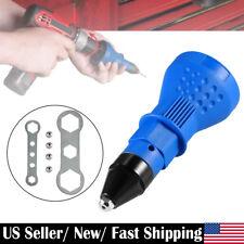 Electric Rivet Adaptor Cordless Drill Attachment Auto Riveting Nut Gun Tool US