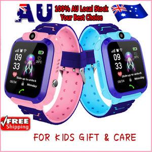 Kids Tracker Smart Watch Phone GSM SIM Alarm Camera SOS Call for Kids Gift ✅