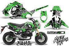 Honda GROM 125 Dirt Bike Graphic Sticker Kit Decal Wrap MX 2013-2015 CIRCUS GRN