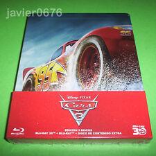 CARS 3 DISNEY PIXAR BLU-RAY 3D + BLU-RAY NUEVO PRECINTADO STEELBOOK