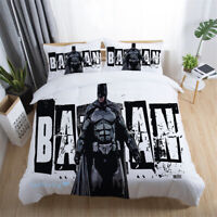 Batman White Quilt Doona Duvet Cover Set Queen/King/Double/Single Bed