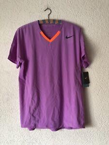 Nike Rafael Nadal M Polo Challenge Court Shirt Federer Tennis Open Agassi