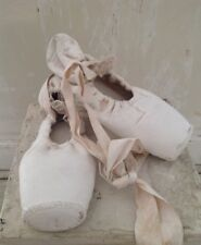 Vintage Pair of Shabby Painted Ballet Pointe Shoes