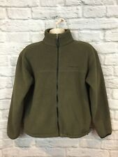 Timberland Mens Olive Green Polartec Full Zip Fleece Jacket Size Small