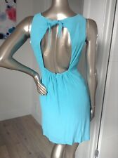 Brand new BLUE dress BY MINTY MEETS MUNT size Large / 10 Crepe Fabric Cut Out Bk