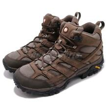 Merrell Moab 2 Smooth Mid GTX Gore-Tex Brown Black Men Outdoors Shoes J46553