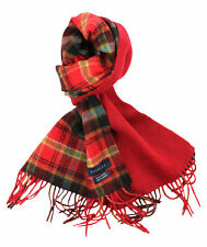 Viyella Red Plaid Check 100% Wool Scarf in Gift Box