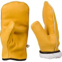 CHOPPER MITTS, TOP-GRAIN COWHIDE LEATHER, ONE PAIR OF SHERPA LINED COLD WEATHER