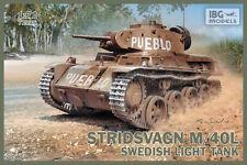 Ibg 1/72 L Tanque de luz sueco Stridsvagn M/40 # 72036