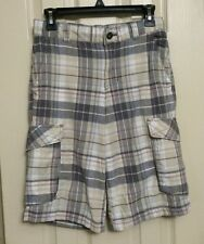 Boys Mossimo Cargo Plaid Shorts Size 14