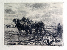 Vintage Etching Waalko Jans Dingemans Dutch 1873-1925 Signed, Numbered 38