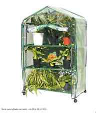Serra Luxury Medy con ruote 3 ripiani cm 90 x 50 x 140 balcone fiori piante este