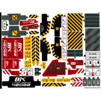 Lego Genuine Technic 42082 Rough Terrain Crane Sticker Sheet Decals Logo - NEW