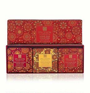 SPA CEYLON Floral Luxury Ayurvedic Soap Collection 3×100g Body Bathing Soap