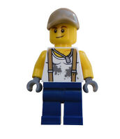 Lego Handwerker Mechaniker Arbeiter Minifigur Figur  Legofigur City cty802 Neu