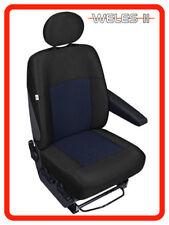 Single Van seat cover for driver's seat fit Volkswagen Transporter T4 black/blue