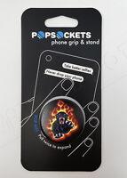 PopSockets Single Phone Grip PopSocket Universal Phone Holder Panther Flames NEW