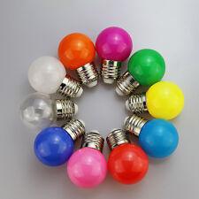10 stk E27 3W Energiesparende LED Kugel Glühbirne Globe Bunt Lampe SMD 2835