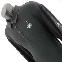 Mens Adidas Black Performance Long Sleeve Casual Golf Polo Shirt Size 2XL XXL