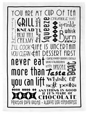 NEW Kitchen Words Grill Knead Whisk Tea Towel