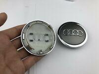 4x 69mm AUDI Grau 4B0601170A Nabendeckel Nabenkappen Alloy Wheel Center  Caps