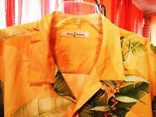 TOMMY BAHAMA HAWAIIAN SHIRT  TROPICAL FLOWERS CAMP CASUAL!SIZE XL!100% SILK !