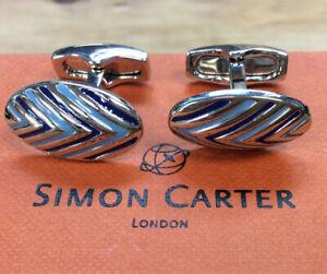 Simon Carter Mens West End Rocket Cufflinks Silver