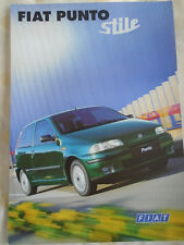 Fiat Punto Stile brochure Aug 1998 French text