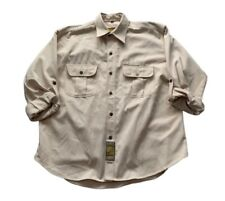 Vintage Camel Trophy Adventure Wear Beige Long Sleeve Button Up Safari Shirt XL