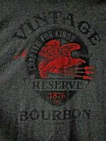 Vintage Bourbon Reserve Tshirt - Gildan - Crafted for Kings 1876 - XXL - Gray