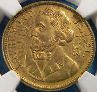 USA 1856 John C Fremont Campaign Medal Token NGC MS63