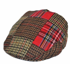 Classic Mixed Tweed Patch Work G&H Flat Cap