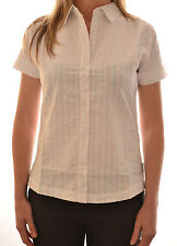 REGATTA LADIES KATY SHORT SLEEVE CASUAL STRIPED SHIRT SUGARCANE WHITE WS168 C9