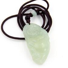 Green Jade Gemstone Tibet Buddhist Happy Buddha Amulet Pendant Talisman