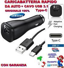 CARICA BATTERIA RAPIDO ORIGINALE SAMSUNG DA AUTO + CAVO USB 3.1 TYPE-C S9 S9+