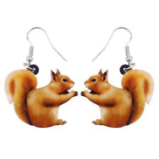 Acrylic Lovely Squirrel Earrings Drop Dangle Fashion Jewelry For Women Girl Gift