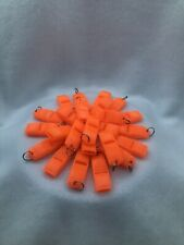 36 Pack 135 dB EMERGENCY Whistles! LOUD!! High Visibility Safety OrangeSurvival