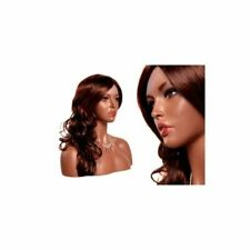 African Female Mannequin Head Bust - Realistic Pretty Face Female Display Head