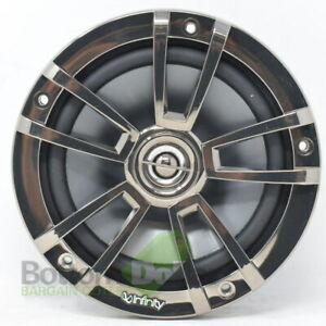 "Infinity 622MB 6.5"" Two-Way Marine Speaker Black With Chrome Grill (ONE SPEAKER)"