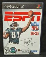 ESPN NFL 2K5 Football T.O. -  Playstation 2 PS2 Game Complete Tested + Working