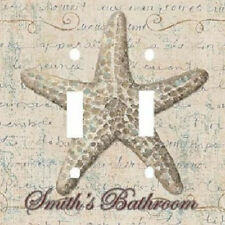 PERSONALIZED STAR FISH DOUBLE LIGHT SWITCH PLATE COVER