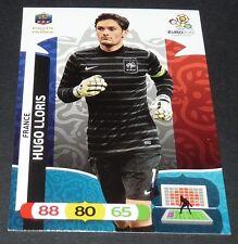 HUGO LLORIS BLEUS FRANCE FFF FOOTBALL CARD PANINI UEFA EURO 2012