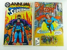 DC SUPERMAN ANNUAL #11 FN (6.0) + ACTION COMICS #583 VF/NM Alan MOORE Ships FREE