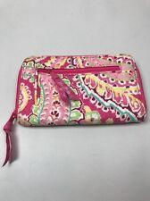 Vera Bradley Paisley Zip Wallet Yellow Pink Zip-around